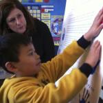 A pre-kindergarten student at H.W. Harkness Elementary School in Sacramento with Assemblywoman Susan Bonilla, D-Concord. Loretta Kalb/ Photo Credit Sacramento Bee report, 3/29/16